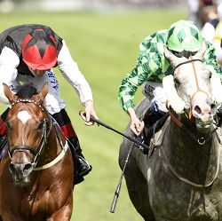 Free Eagle just holds on from The Grey Gatsby to win the Prince Of Wales's Stakes at Royal Ascot